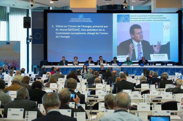 Participation of Maroš Šefčovič, Vice-President of the EC, in the plenary session of the European Economic and Social Committee
