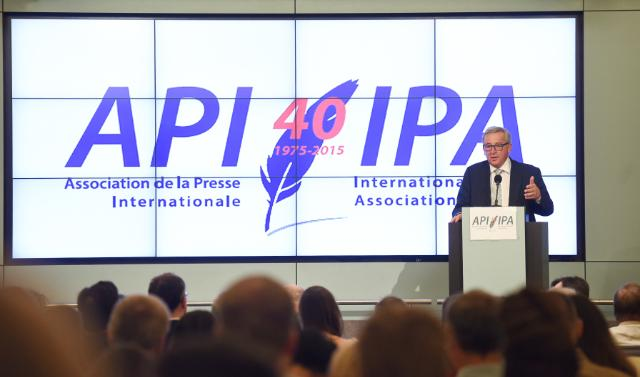 Participation of Jean-Claude Juncker at the 40th anniversary event of the International Press Association (IPA)