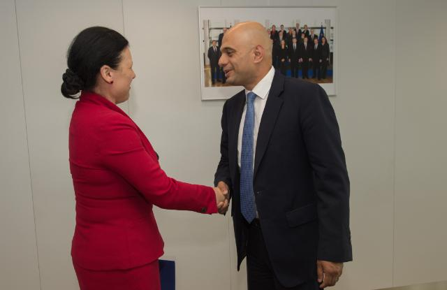 "Illustration of ""Visit of Sajid Javid, British Secretary of State for Business, Innovation and Skills, to the EC"""