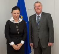 Visite de David Walzer, chef de la mission d'Israël auprès de l'UE, à la CE