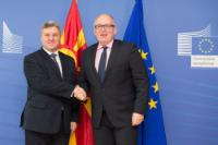 Visite de Gjorge Ivanov, président de l'ancienne République yougoslave de Macédoine, à la CE