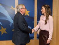 Visit of Rania, Queen of Jordan, to the EC