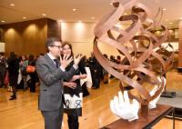 Visit of Maria Leal da Costa, Portuguese sculptress, to the EC