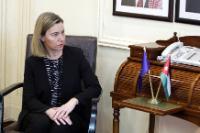 Visite de Federica Mogherini, vice-présidente de la CE, en Jordanie