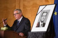 Participation of Jean-Claude Juncker, President of the EC, in the memorial ceremony for Guido Westerwelle in Berlin