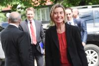 Visite de Federica Mogherini, vice-présidente de la CE, et Dimitris Avramopoulos, membre de la CE, au Kosovo