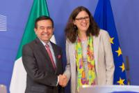 Conférence de presse conjointe de Cecilia Malmström, membre de la CE, et Ildefonso Guajardo Villarreal, ministre mexicain de l'Économie