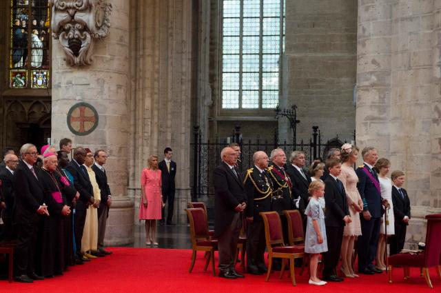Participation of Jean-Claude Juncker, President of the EC, to the Te Deum on the occasion of the Belgian National Day