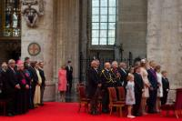 Participation of Jean-Claude Juncker, President of the EC, in the Te Deum on the occasion of the Belgian National Day