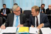 Participation de Jean-Claude Juncker, président de la CE, Valdis Dombrovskis, vice-président de la CE, et Marianne Thyssen, membre de la CE, au sommet social tripartite