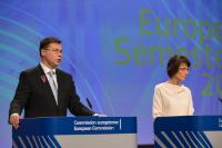 Joint press conference by Valdis Dombrovskis, Vice-President of the EC, Marianne Thyssen and Pierre Moscovici, Members of the EC, on the European Semester Autumn Package 2017