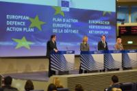 Joint press conference by Federica Mogherini and Jyrki Katainen, Vice-Presidents of the EC, and Elżbieta Bieńkowska, Member of the EC, on the European Defence Action Plan