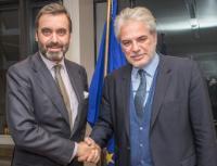 Visite de Pablo García-Berdoy, représentant permanent de l'Espagne auprès de l'UE, à la CE