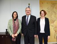 Visit of Alexandra Makaroff, Head of Plan International EU Office, and Tanya Cox, Senior Policy and Advocacy Manager at Plan International EU Office, to the EC