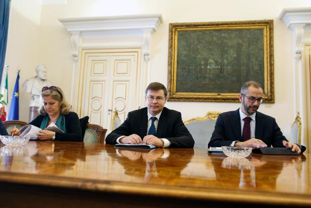 Visit by Valdis Dombrovskis, Vice-President of the EC, to Italy