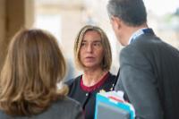 Visite de Federica Mogherini, vice-présidente de la CE au Royaume Uni