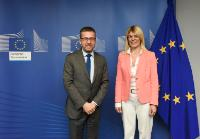 Visit of Sanja Damjanović, Montenegrin Minister for Science, to the EC