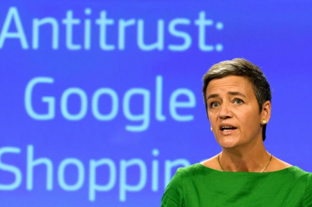 Press conference by Margrethe Vestager, Member of the EC, on Antitrust: Commission fines Google €2.42 billion for abusing dominance as search engine by giving illegal advantage to own comparison shopping service