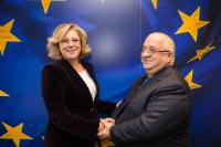 Visite de Felix Stroe, ministre roumain des Transports, à la CE