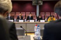 Visite des partenaires sociaux pour l'échange avec Valdis Dombrovskis, vice-président de la CE