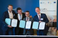 Participation of Maroš Šefčovič and Carlos Moedas, Members of the EC, at the Northvolt InnovFin EDP Signing Ceremony