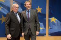 Visite de Hartwig Löger, ministre fédéral autrichien des Finances, à la CE