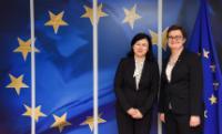 Visite de Katarzyna Lubnauer, cheffe du parti politique polonais Modern (Nowoczeszna), à la CE