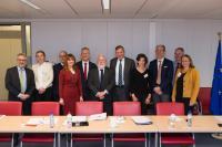 Visite d'un groupe  de PDG industriels de l'énergie, à la CE
