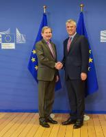Visite de Hashim Thaçi, président du Kosovo, à la CE