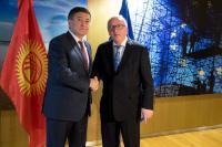 Visit of Sooronbay Jeenbekov, President of Kyrgyzstan, to the EC.