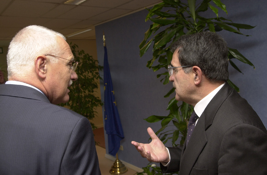 Visit of Vaclav Klaus, President of the Czech Chamber of Deputies, to Romano Prodi
