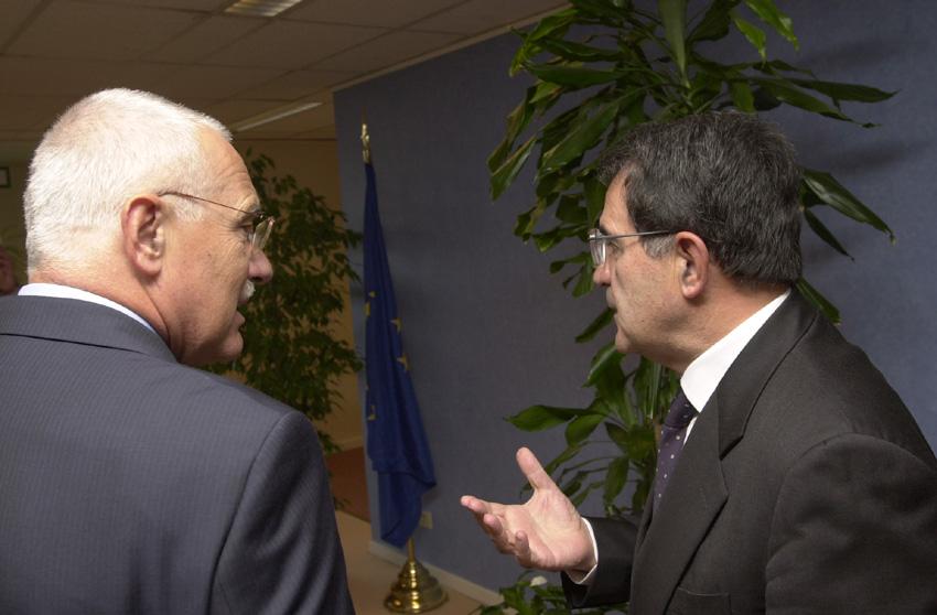Visit of Vaclav Klaus, President of the Czech Chamber of Deputies, to Romano Prodi
