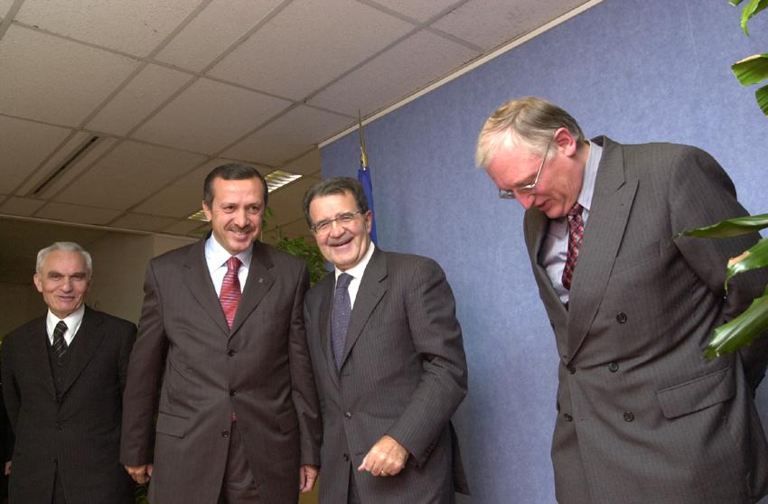 Visite de Recep Tayyip Erdoğan et Yasar Yakis à la CE