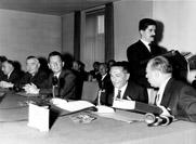 Exchange of ratification instruments of the association agreement between the EEC and Greece