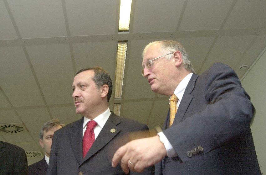 Visite de Recep Tayyip Erdoğan, Premier ministre turc, à la CE
