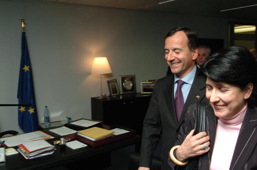Visite de Salomé Zourabichvili, ministre géorgienne des Affaires étrangères, à la CE