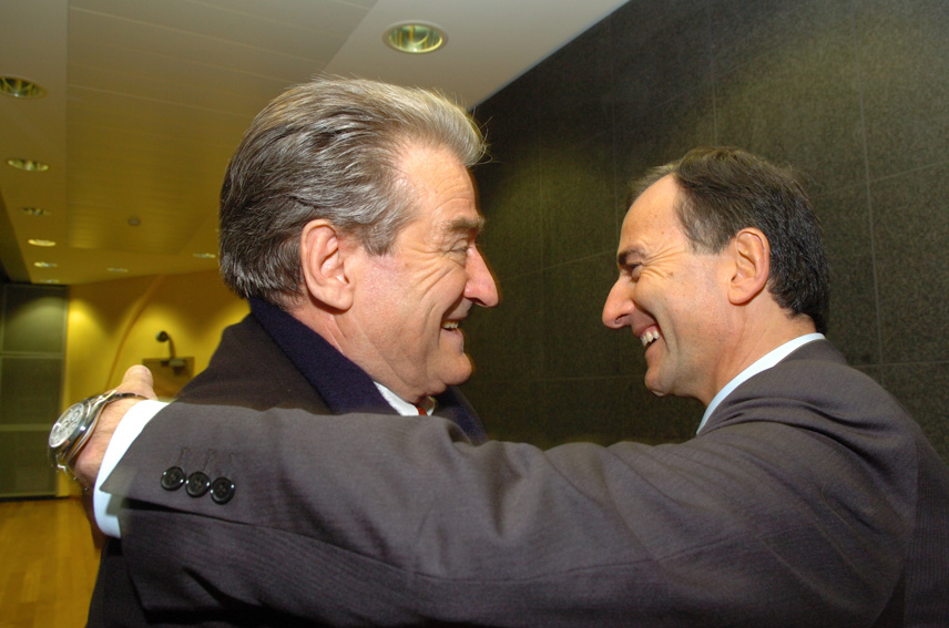 Visit by Sali Berisha, Albanian Prime Minister, to the EC