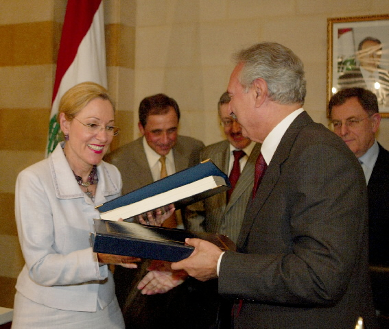 Visite de Benita Ferrero-Waldner, membre de la CE, au Liban