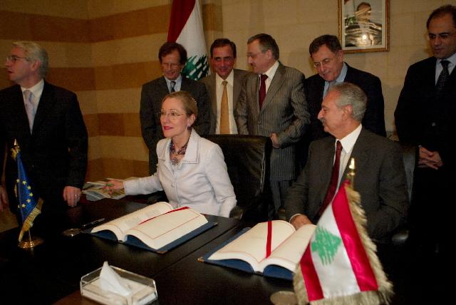 Visit by Benita Ferrero-Waldner, Member of the EC, to Lebanon