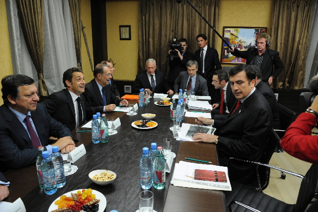 Visit by José Manuel Barroso, President of the EC, Javier Solana and Nicolas Sarkozy to Russia and Georgia