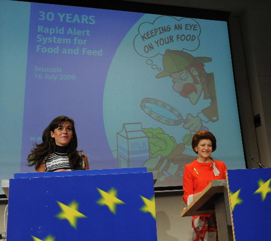 Press conference of Androulla Vassiliou, Member of the EC, on the Rapid Alert System for Food and Feed