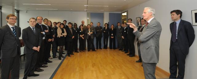 Visit to the EC of the students from ENA in internship in Brussels