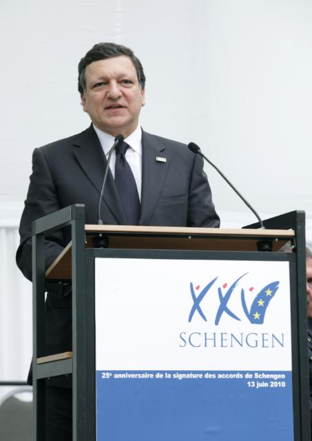 Celebration of the 25th anniversary of the Schengen Agreement