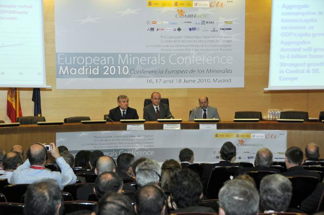 Participation of Antonio Tajani, Vice-President of the EC, in the European Minerals Conference in Madrid