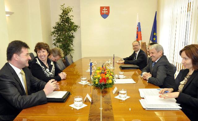Visit of Catherine Ashton, Vice-President of the EC, to Bratislava