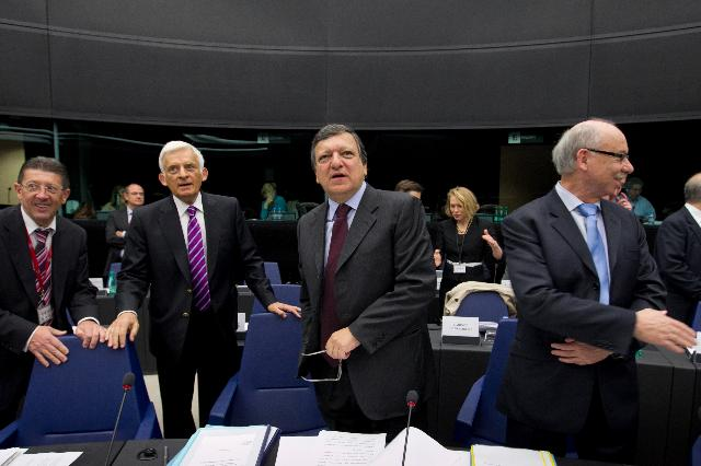 Participation of José Manuel Barroso, President of the EC, in the extraordinary meeting of the Conference of Presidents
