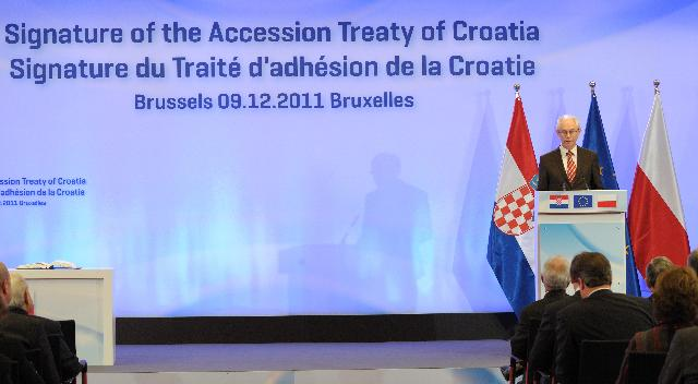 Signing ceremony of the Accession Treaty of Croatia