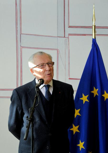 Visit of Jacques Delors, former President of the EC, to the EC