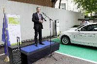 Inauguration of an electric charging point next to the DG