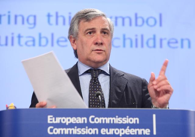 Press conference by Antonio Tajani, Vice-President of the EC, on the Toy Safety Campaign: